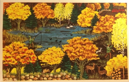 Karen K postkort efterår