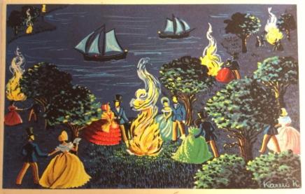 Karen K postkort Sankt Hans