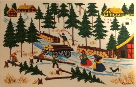 Karen K postkort skovhugst
