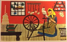 Karen K postkort spinderok
