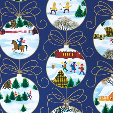 "Christmas Wrapping Paper - Ornaments - 23"" x 72"""