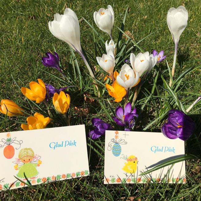 Karen K påskekort blomster
